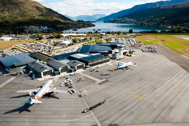 Queenstown Airport is the main international gateway to the region.